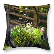 Contained Flowers  Throw Pillow