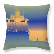 Container Sail 2 Throw Pillow