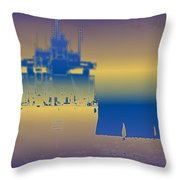 Container Sail 3 Throw Pillow