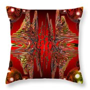 Containment Field-red Throw Pillow