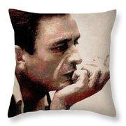 Contemplating Cash Throw Pillow