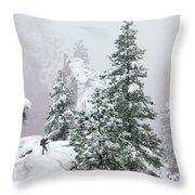 Contemplating The Hike Throw Pillow