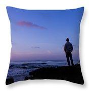 Contemplation At Sunset Throw Pillow