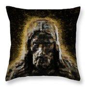 Contemplative Christ Throw Pillow