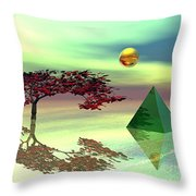 Contemplative Throw Pillow