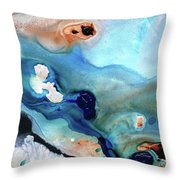 Contemporary Abstract Art - The Flood - Sharon Cummings Throw Pillow