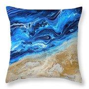 Contemporary Abstract Beach Nacl Throw Pillow