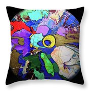 Contemporary Art - Abstract In The Round  Throw Pillow
