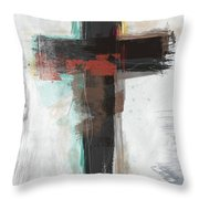 Contemporary Cross 1- Art By Linda Woods Throw Pillow