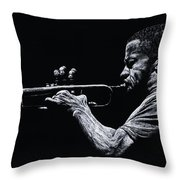 Contemporary Jazz Trumpeter Throw Pillow