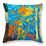 Contemporary Jungle No. 3 Throw Pillow