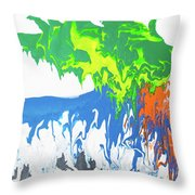 Contemporary Painting Of Moose Throw Pillow