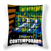 Contemporary Window To The World Throw Pillow
