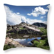 Continental Divide Above Twin Lakes 2 - Weminuche Wilderness Throw Pillow