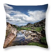 Continental Divide Above Twin Lakes 3 - Weminuche Wilderness Throw Pillow