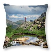 Continental Divide Above Twin Lakes 4 - Weminuche Wilderness Throw Pillow