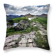 Continental Divide Above Twin Lakes 6 - Weminuche Wilderness Throw Pillow
