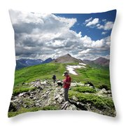 Continental Divide Above Twin Lakes 7 - Weminuche Wilderness Throw Pillow
