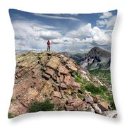 Continental Divide Above Twin Lakes - Weminuche Wilderness Throw Pillow