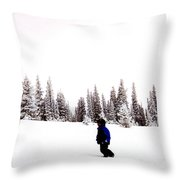Continental Divide January 1 2000 Throw Pillow