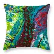 Contorted Canopy Throw Pillow