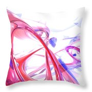 Contortion Abstract Throw Pillow