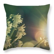 Contra Jour Flowers 1 Throw Pillow