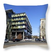 Contrast In Age Throw Pillow