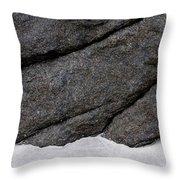 Contrast, Sanna Bay, Scotland Throw Pillow