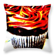 Contrasted Cupcake Throw Pillow