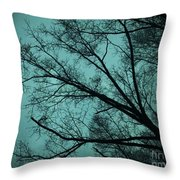 Contrasted Trees Throw Pillow