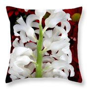 Contrasting Red And White Flowers Throw Pillow