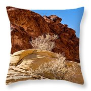 Contrasting Rocks Throw Pillow