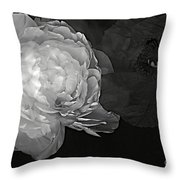 Contrasts In Floral Kingdom In Black And White. Throw Pillow