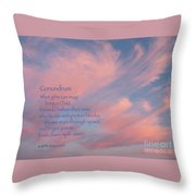 Conundrum Throw Pillow
