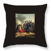 Conventional Battle Scene Throw Pillow