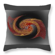 Convergence In Red And Gold Throw Pillow