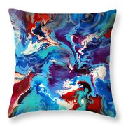 Convergence Of The Four Winds Throw Pillow