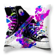 Convers All Stars Throw Pillow