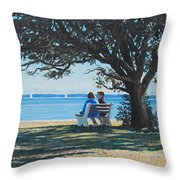 Conversation In The Park Throw Pillow