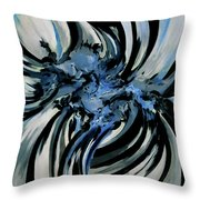 Conversation With Blue Poetry Throw Pillow