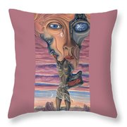 Conversation With Death - My Body Throw Pillow by Karen Musick