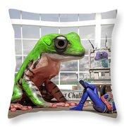 Conversational Art  Throw Pillow