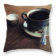 Conversations Over Coffee  Throw Pillow