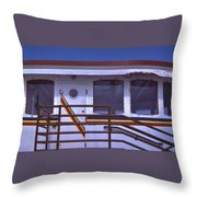 Converted Tugboat Cabin   Canal Park  Duluth Minnesota Throw Pillow