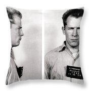 Convict No. 1428 - Whitey Bulger - Alcatraz 1959 Throw Pillow