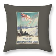 Convoy Your Country To Victory Throw Pillow