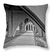 Conway River Walk Black And White Throw Pillow