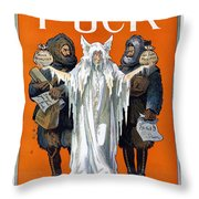 Cook And Peary, 1909 Throw Pillow