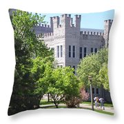 Cook Hall Illinois State Univerisity Throw Pillow